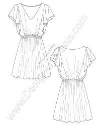 pattern drawing illustrator v67 draped dress illustrator flat drawing designers nexus