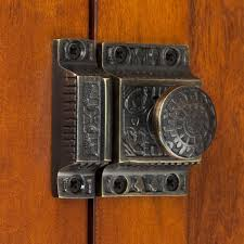 solid brass cabinet latch with windsor knob hardware