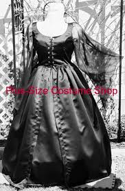 Black Wedding Dress Halloween Costume Gothic Witchy Woman Halloween Costume Size Super Size