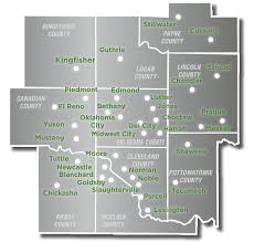 Oklahoma Counties Map Greater Oklahoma City Economic Development Local Map