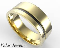 two tone mens wedding bands custom two tone gold wedding band for men s vidar jewelry