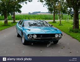 lamborghini espada blue lamborghini espada classic car standing on a tree lined