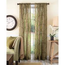 Brown Floral Curtains Semi Sheer Curtains
