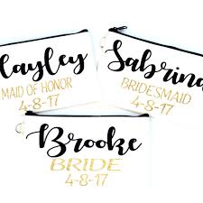 bridal party makeup bags bridesmaid makeup bags make unique gifts for bridesmaids of