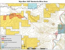 map of thermopolis wyoming comments sought on bentonite mine thermopolis independent