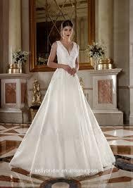 zm16025 ankle length oem design deep v neck wedding dress patterns
