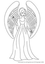 free printable angel coloring pages kids angels color