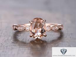 rings art images Art deco oval cut morganite solitaire engagement ring jpg