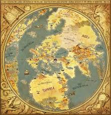 Baghdad World Map by Artstation The 9th Age World Map Thomas Karlsson Fantasy