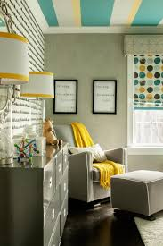boy u0027s colorful midcentury nursery with patterned wallpaper 2015