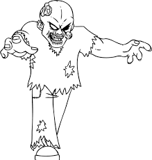 Scary Halloween Printable Coloring Pages by Zombies Coloring Pages Pixelpictart Com