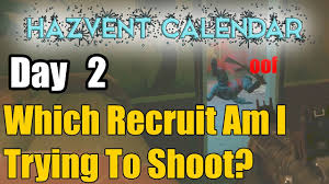 hazventcalendar day 2 minigame which recruit am i trying to
