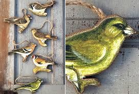 bird ornaments antique farmhouse