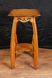 Arts And Crafts Nightstand Oak Arts And Craft Side Table Pedestal Stand Antique English