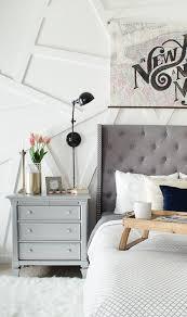 Winged Tufted Headboard by Modern Glam Bedroom Polished Habitat