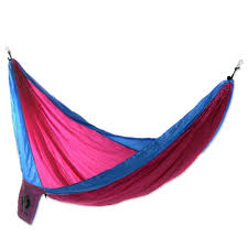 pink and blue single parachute hammock with hanging hooks party