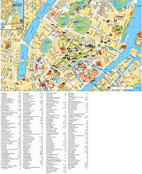 map of copenhagen copenhagen tourist attractions map