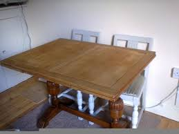 1930 Dining Table A 1930 S Wooden Extending Dining Table And 4 Chairs Plus 1 Carver