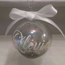pretty pink medium personalised baubles from www