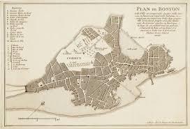 Boston Map by Boston Before The Revolution Rare U0026 Antique Maps