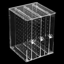 earring stud holder genboli acrylic earring display stand organiser holder earring studs
