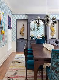 hgtv dining rooms blue dining room photos hgtv traditional with diamond wallpaper