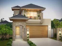 house front portico design narrow houses floor plans narrow lot