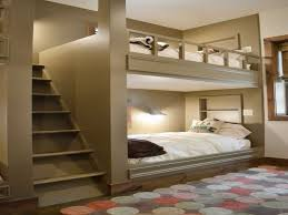 bedding wood bunk beds stairway loft trundle under stairs closet