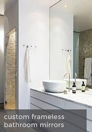 Frameless Bathroom Mirror Bathrooms Design Frameless Bathroom Mirrors Cool Mirror Awesome