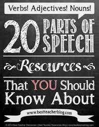 162 best parts of speech images on pinterest teaching grammar