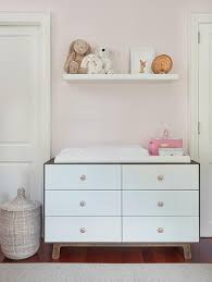 White Changing Tables For Nursery Two Tone Nursery Dresser And Changing Table Transitional Nursery