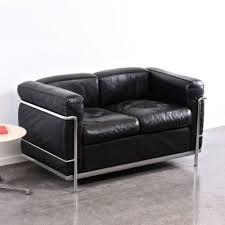 lc2 sofa lc2 sofa east end imports eei 128 le corbusier lc2 sofa in