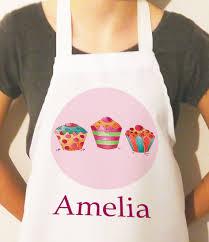 kids apron personalised apron for kids cupcake craft aprons girls