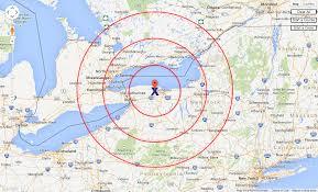 draw a radius on a map maps radius rings cartagram