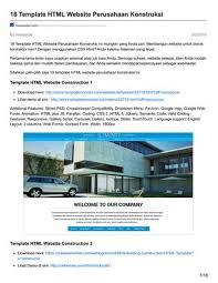 mapping layout perusahaan masbadar com 18 template html website perusahaan konstruksi by
