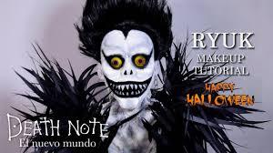 death note ryuk halloween makeup tutorial v 159 youtube