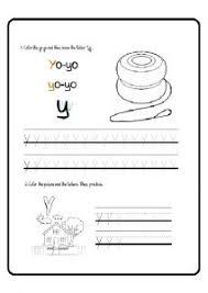 lowercase letter y worksheet free printable preschool and