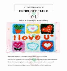 diy latch hook rug kits unfinished crocheting tapestry carpet