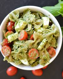pasta salad pesto pesto caprese pasta salad flying on jess fuel