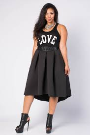 Plus Size Womens Clothing Stores Edgy A Line High Low Skirt Fatshionistas Plus Size Style