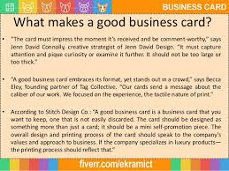 What Makes A Great Business Card - graphic skill income by business card design