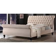 bedroom sled bed frame upholstered sleigh bed upholstered