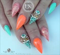 orange gel nail designs images nail art designs