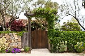 Garden With Trellis Napa Valley Gate With Trellis Mediterranean Landscape San