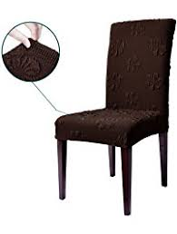 dining room chair seat slipcovers shop amazon com dining chair slipcovers