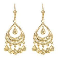 gold chandelier earrings 14k yellow gold chandelier vintage earrings 1 3 4 x 3 4 jewelry