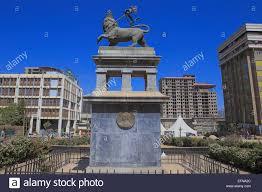 lion of judah statue lion of judah monument 1930 addis ababa stock photo