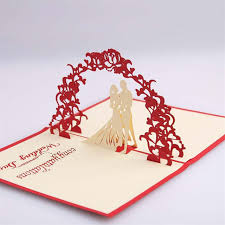 pop up wedding invitations new creative sweety wedding greeting kirigami card 3d pop up paper