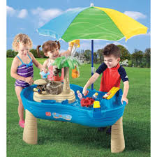 water table for 1 year old step2 tropical island resort water table pools water fun amazon