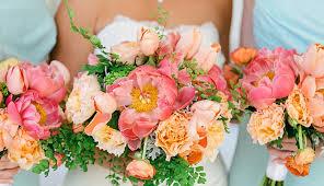 Wedding Flowers Peonies Pink Peonies U0026 Peach Tulip Wedding Bouquet